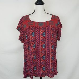 TORRID Red Short-Sleeved Top, Size 2